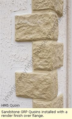 GRP Quoins and Brick Effect decoration for Park Homes and Mobile Homes from House Martin GRP Ltd. Rendered Houses, Diwali Decorations At Home, Classic House Exterior, Pillar Design, House Outside Design, Building Stone, Park Homes, Corner Designs, Pool Designs