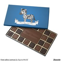 Cute zebra cartoon 45 piece assorted chocolate box