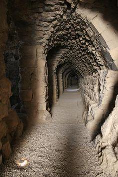 One of the many tunnels in Kerak Castle
