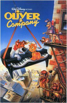Oliver and Company Walt Disney Co, Disney Love, Disney Magic, Disney Pixar, Classic Cartoon Characters, Classic Cartoons, Cartoon Movies, Disney Cats, Disney Cartoons