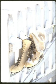 use your old ice skates as accessories. especially in florida.