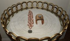 Rose gold and silver Chanel Chain and matching cuff bracelet by Vswaggercouture on Etsy