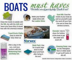 What do you use to clean your boat