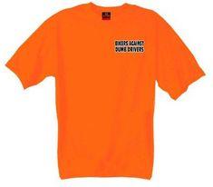 Hot Leathers Bikers Against Dumb Drivers T-Shirt (Safety Orange, Medium) http://bikeraa.com/hot-leathers-bikers-against-dumb-drivers-t-shirt-safety-orange-medium/