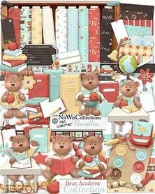 "Photo from album ""BearAcademy"" on Yandex. Card Making Kits, Card Making Supplies, Craft Supplies, School Kit, Cute Teddy Bears, Printable Paper, Paper Background, Digital Scrapbooking, Digital Papers"