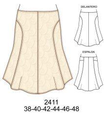 Faldas Skirt Patterns Sewing, Rock, Pattern Fashion, Diy Clothes, Cheer Skirts, Dress Skirt, Vintage Fashion, Knitting, Creative