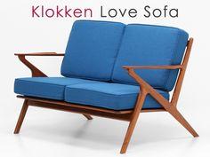 Teak Furniture 北欧デザイン家具クロッケン2人掛けソファBLチークデンマーク インテリア 雑貨 Modern ¥82800yen 〆05月22日
