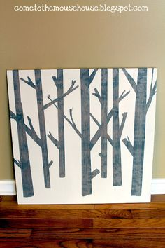 Simple DIY Tree Painting - the secret is painters tape!