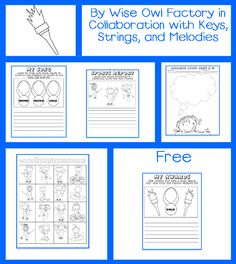 Olympics Writing Free Printable from Wise Owl Factory in Collaboration with Keys, Strings, and Melodies