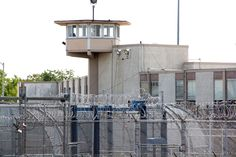 A guard tower looms over the correctional complex on State Road in Philadelphia. Abandoned Prisons, Prison Life, Water Tower, Big Houses, Building Design, Multi Story Building, Layout, Windows, Towers