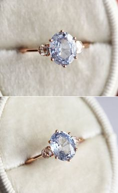 Something Blue Engagement Rings! 13 Most Beautiful Blue-Hued Gemstone Rings For A Romantic Proposal - Praise Wedding Gemstone Engagement Rings, Vintage Engagement Rings, Gemstone Rings, Sapphire Solitaire Ring, Blue Sapphire Rings, Romantic Proposal, Apricot Oil, Oil Benefits, Wedding