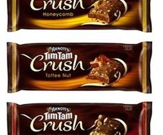 Tim Tam is a brand of chocolate biscuit made by the Australian food company Arnott's and available in several countries. A Tim Tam is composed of two layers of chocolate malted biscuit, separated by a light chocolate cream filling, and coated in a thin layer of textured chocolate.