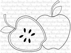 Digital Stamp Apples by paperaddictions on Etsy
