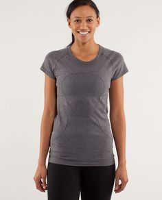 Lululemon: We designed this shirt to withstand serious sweat. It's up to you to provide it.  Me: Great fit and material. I have too many of these. ;)