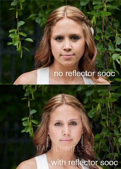 Dead link, but nice photo to remind you that a reflector can make a big difference.