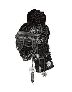 Black Goddess, Goddess Art, African Tattoo, Afro Punk Fashion, Goddess Tattoo, Mythical Creatures Art, Digital Art Girl, Afro Art, African American Art