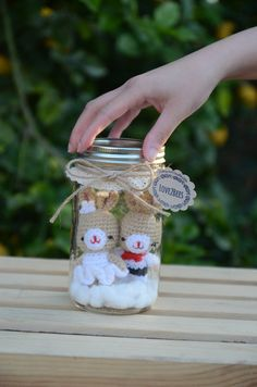 Wedding gift, Anniversary gift, Handmade Wedding Bunny Couple Key chains in a…