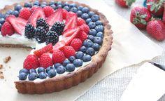 Berry Tart with Vanilla Bean Custard from @Against All Grain (Danielle) #glutenfree  #paleo #primal