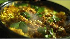 Harissa couscous and feta tagine