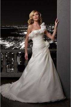 Sexy  Een schouder Bruidsjurk Madeline Gardner 37013 2012