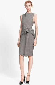 Lanvin Side Drape Plaid Dress available at #Nordstrom