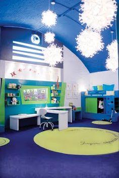 Habitaciones verdes azules en pinterest pintando los - Habitaciones infantiles azules ...