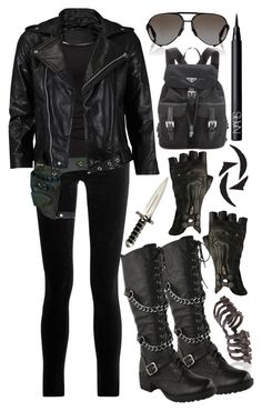Designer Clothes, Shoes & Bags for Women Bad Girl Outfits, Edgy Outfits, Fashion Outfits, Divergent Outfits, Supernatural Outfits, Spy Outfit, Marvel Clothes, Super Hero Outfits, Looks Black
