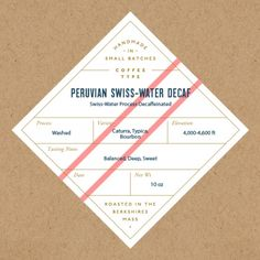 Tasting Notes: Vanilla, nuts, sweet fruit, mild. Swiss water process is the only way to achieve decaffeinated coffee without harmful chemicals. The Swiss water method uses only 100% pure water to gently remove the caffeine, yet keep this delicious Peruvian's distinctive origin characteristics. Enjoy!
