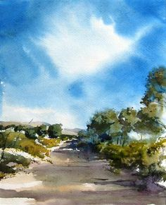 Original art for sale at UGallery.com | Arroyo Chamiso II by Charles Ash | $275 | watercolor painting | 9' h x 12' w | http://www.ugallery.com/watercolor-painting-arroyo-chamiso-ii