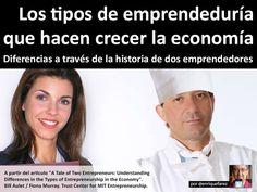 los-tipos-de-emprendedura-que-hacen-crecer-la-economa by Enrique Farez via Slideshare