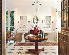 Great bathroom by Michael S Smith