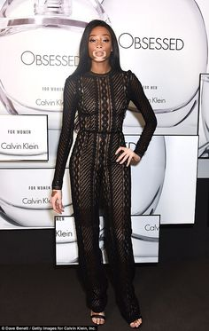 Strike a pose: Winnie Harlow stole the spotlight at the Kate Moss & Mario Sorrenti launch ...