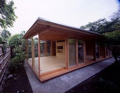 "outdoor shoji | ... method.With no beam above the ""shoji"", light fills the ceiling"