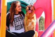DOGS>DUDES. Enough said. About This Shirt: This is an American Apparel 3/4 Sleeve Raglan Tee Material: 50% Cotton, 50% Polyester. 10% of shirt sales will go to Canine Rescue Organizations. Unisex sizi
