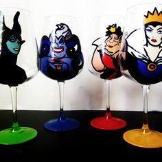 evil queen wine glasses set of 4
