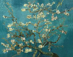 "All of Vincent Van Gogh Paintings | Blossoming Almond Tree oil on canvas 29"" x 36 1/4"" 1890"