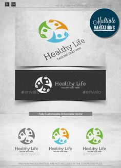 Healthy Life - Logo Design Template Vector #logotype Download it here: http://graphicriver.net/item/healthy-life-logo-template/10852637?s_rank=1028?ref=nexion