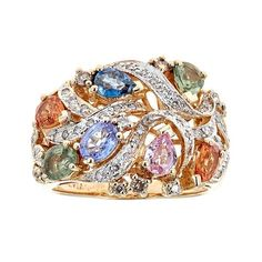 Le Vian Multi-Colored Sapphire & Diamond 14K Yellow Gold Ring