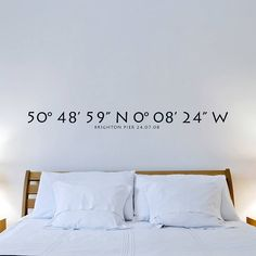 personalised coordinates wall sticker by oakdene designs | notonthehighstreet.com