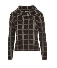 Windowpane Sweater Jacket