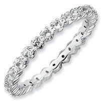 0.56ct Pure Love Silver Stackable White Topaz Band. Sizes 5-10 Available Jewelry Pot. $42.99. Fabulous Promotions and Discounts!. All Genuine Diamonds, Gemstones, Materials, and Precious Metals. 100% Satisfaction Guarantee. Questions? Call 866-923-4446. 30 Day Money Back Guarantee. Your item will be shipped the same or next weekday!. Save 60% Off!