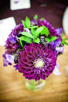 Electric Purple Dahlia Bouquet {Cate Bates Events & Design} www.bestweddingshowcase.com