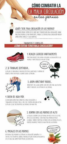 Combate la mala circulación de tus piernas con éstos consejos.