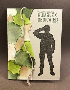DTGD Watercolor Camouflage Soldier by ruby-heartedmom - Cards and Paper Crafts at Splitcoaststampers Army Letters, Independence Day Card, Military Cards, Bhagat Singh, Army Day, Handmade Thank You Cards, Cricut Cards, Papi, Mini Scrapbook Albums