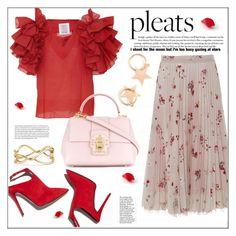 """""""Give Me Pleats, DO NOT COPY"""" by pat912 ❤ liked on Polyvore featuring Salvatore Ferragamo, Rosie Assoulin, Dolce&Gabbana, David Yurman, pleats and polyvoreeditorial"""