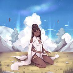 Another World by Auriant on DeviantArt Black Love Art, Black Girl Art, Art Girl, Black Girls, Black Art Painting, Black Artwork, Cartoon Art Styles, Cartoon Drawings, Arte Monster High