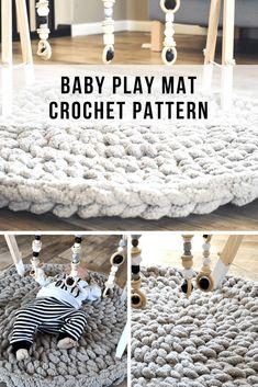 How to crochet a baby play mat that is plush and cozy for tummy time. This crochet mat makes a great baby shower gift you can make in 1 hour. # diy baby projects How To Make A Modern Crochet Baby Play Mat In 1 Hour Crochet Mat, Crochet Gifts, Baby Blanket Crochet, Free Crochet, Crochet Baby Stuff, Crochet For Baby, Things To Crochet, Baby Diy Projects, Baby Crafts