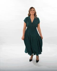 Smock-Waist Dress With Skirt Godets