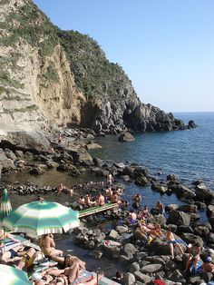 Thermal Springs in Isola d'Ischia (Italy). Looks like the thermal springs I was in in Cassamicciola.... don't touch the water after 11am....you'll boil your feet...why do I know that?