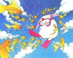 Mokona, Magic Knight Rayearth.  Manga by CLAMP